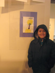 Azhael and his collage, Nava Elementary